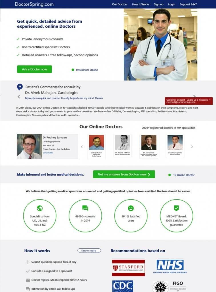 doctor spring website