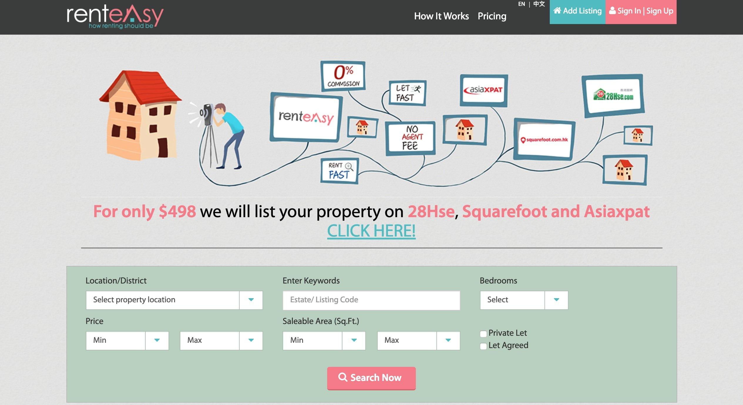 rent easy website