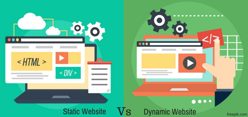 difference between static and dynamic website