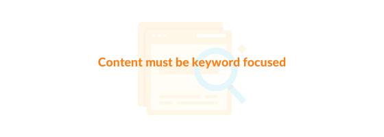 keyword focused content